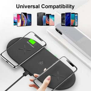 18W 3-in-1 Fast Charging Wireless QI Charger Pad for Apple, Samsung, Apple Watch and AirPods