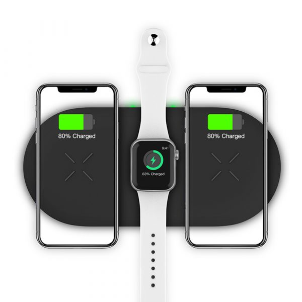18W 3-in-1 Fast Charging Wireless QI Charger Pad for Apple, Samsung, Apple Watch and AirPods_5
