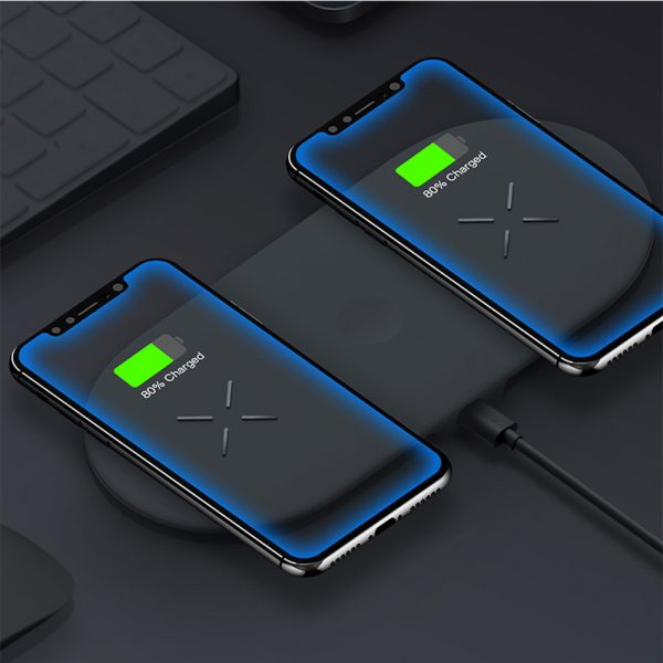 18W 3-in-1 Fast Charging Wireless QI Charger Pad for Apple, Samsung, Apple Watch and AirPods_2