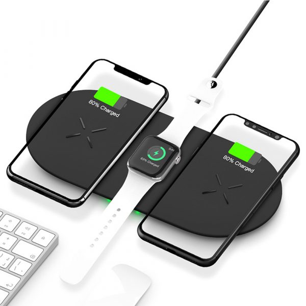 18W 3-in-1 Fast Charging Wireless QI Charger Pad for Apple, Samsung, Apple Watch and AirPods_3