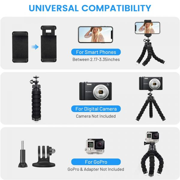 Remote Control Flexible Mobile Phone Holder Tripod Octopus Bracket for Cell Phone and Camera Selfie Stand_2