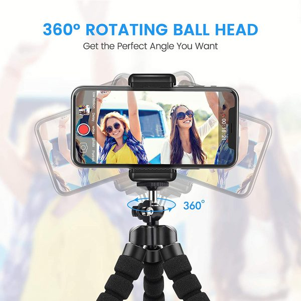 Remote Control Flexible Mobile Phone Holder Tripod Octopus Bracket for Cell Phone and Camera Selfie Stand_3