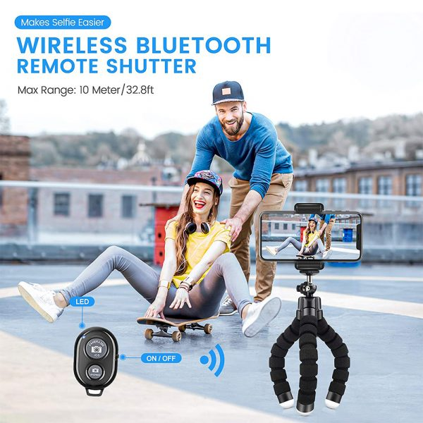 Remote Control Flexible Mobile Phone Holder Tripod Octopus Bracket for Cell Phone and Camera Selfie Stand_4