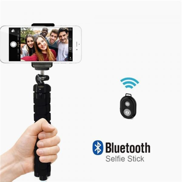 Remote Control Flexible Mobile Phone Holder Tripod Octopus Bracket for Cell Phone and Camera Selfie Stand_6