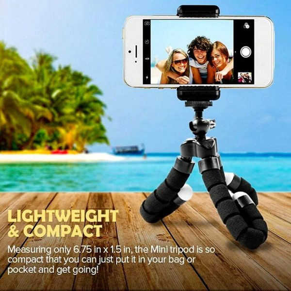Remote Control Flexible Mobile Phone Holder Tripod Octopus Bracket for Cell Phone and Camera Selfie Stand_7