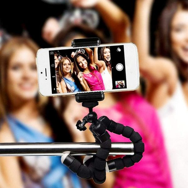 Remote Control Flexible Mobile Phone Holder Tripod Octopus Bracket for Cell Phone and Camera Selfie Stand_8
