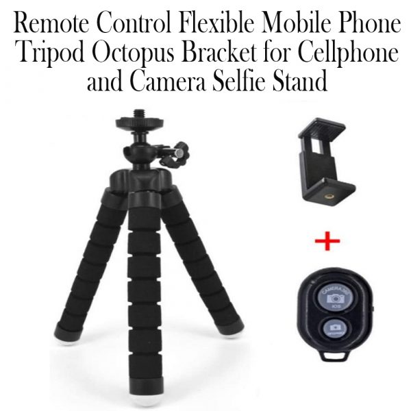 Remote Control Flexible Mobile Phone Holder Tripod Octopus Bracket for Cell Phone and Camera Selfie Stand_10