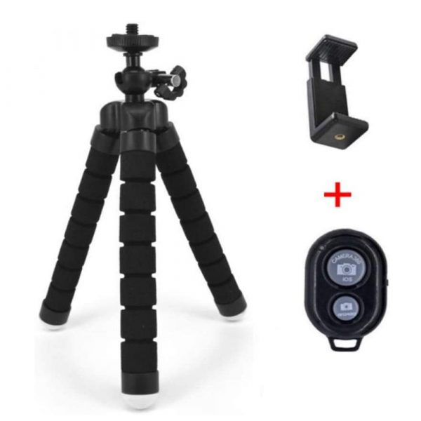 Remote Control Flexible Mobile Phone Holder Tripod Octopus Bracket for Cell Phone and Camera Selfie Stand_11