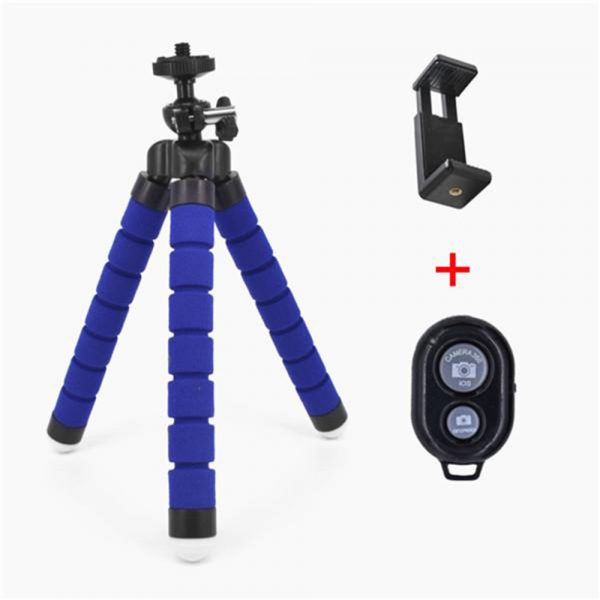 Remote Control Flexible Mobile Phone Holder Tripod Octopus Bracket for Cell Phone and Camera Selfie Stand_12