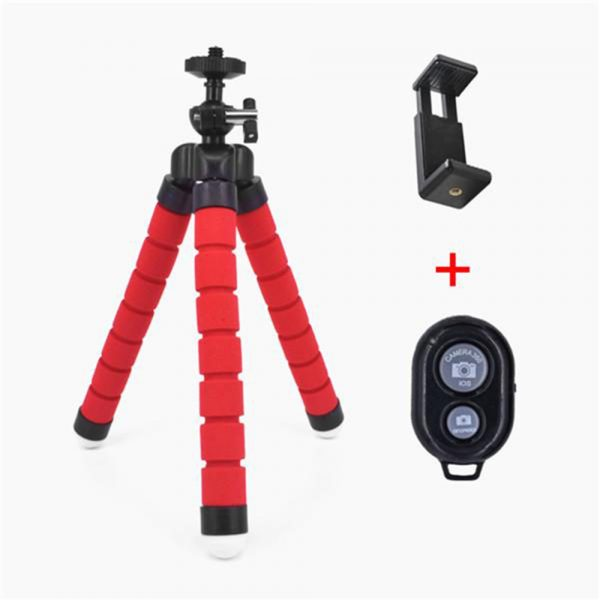 Remote Control Flexible Mobile Phone Holder Tripod Octopus Bracket for Cell Phone and Camera Selfie Stand_13