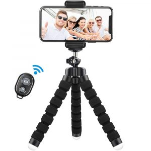 Remote Control Flexible Mobile Phone Holder Tripod Octopus Bracket for Cell Phone and Camera Selfie Stand