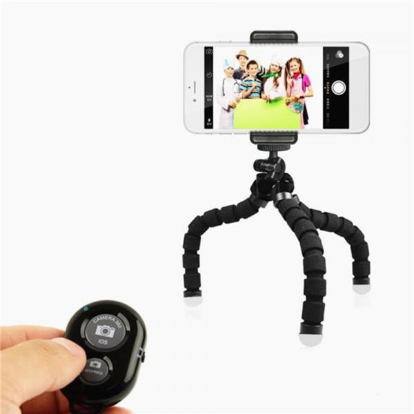 Remote Control Flexible Mobile Phone Holder Tripod Octopus Bracket for Cell Phone and Camera Selfie Stand_9