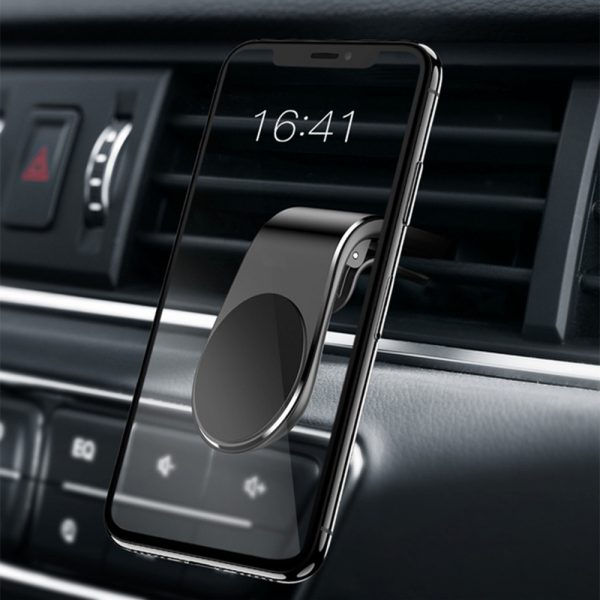 360 Degree Rotating Magnetic Car Phone Holder Stand for Xiaomi Redmi Note 5a Mi Note 8 Metal Air Vent Clip Type Magnetic Holder in-Car GPS Mount Holder_0