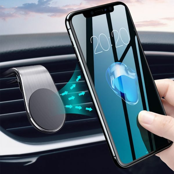 360 Degree Rotating Magnetic Car Phone Holder Stand for Xiaomi Redmi Note 5a Mi Note 8 Metal Air Vent Clip Type Magnetic Holder in-Car GPS Mount Holder_1