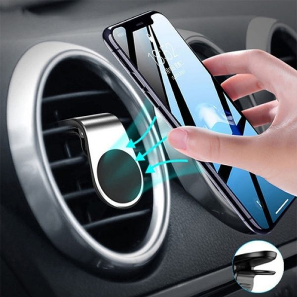 360 Degree Rotating Magnetic Car Phone Holder Stand for Xiaomi Redmi Note 5a Mi Note 8 Metal Air Vent Clip Type Magnetic Holder in-Car GPS Mount Holder_2