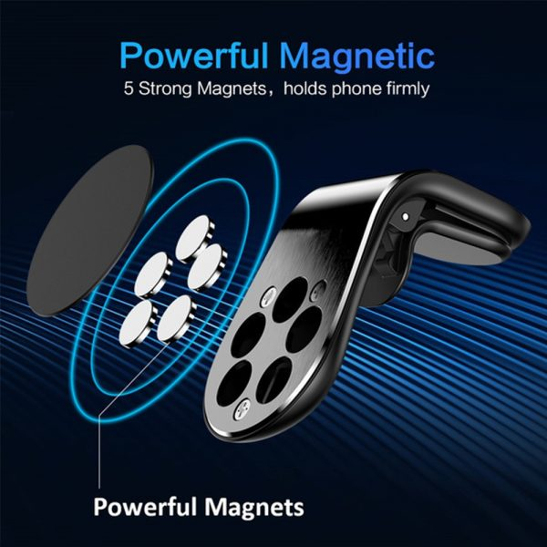 360 Degree Rotating Magnetic Car Phone Holder Stand for Xiaomi Redmi Note 5a Mi Note 8 Metal Air Vent Clip Type Magnetic Holder in-Car GPS Mount Holder_7