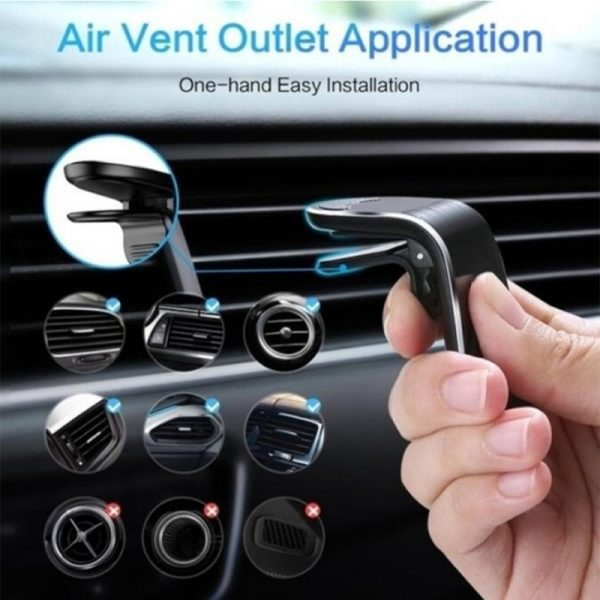 360 Degree Rotating Magnetic Car Phone Holder Stand for Xiaomi Redmi Note 5a Mi Note 8 Metal Air Vent Clip Type Magnetic Holder in-Car GPS Mount Holder_8