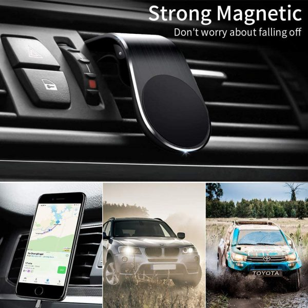 360 Degree Rotating Magnetic Car Phone Holder Stand for Xiaomi Redmi Note 5a Mi Note 8 Metal Air Vent Clip Type Magnetic Holder in-Car GPS Mount Holder_3
