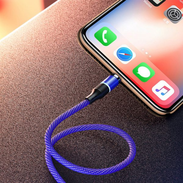 3-in-1 Fast Charging Magnetic Cable Charger for Micro USB, Type C and for Apple Devices iPhone 12 11 Pro XS Max_10