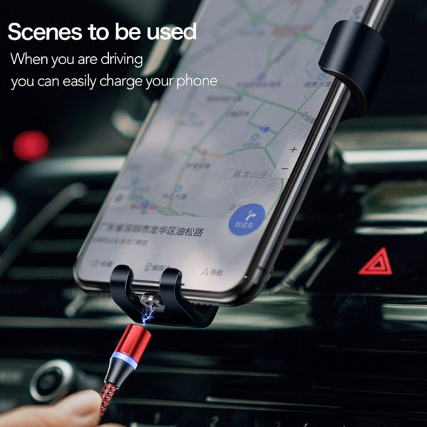 3-in-1 Fast Charging Magnetic Cable Charger for Micro USB, Type C and for Apple Devices iPhone 12 11 Pro XS Max_6