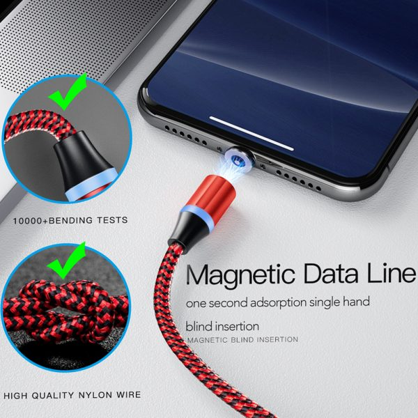 3-in-1 Fast Charging Magnetic Cable Charger for Micro USB, Type C and for Apple Devices iPhone 12 11 Pro XS Max_7