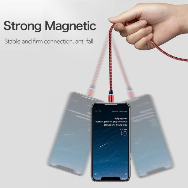 3-in-1 Fast Charging Magnetic Cable Charger for Micro USB, Type C and for Apple Devices iPhone 12 11 Pro XS Max_8