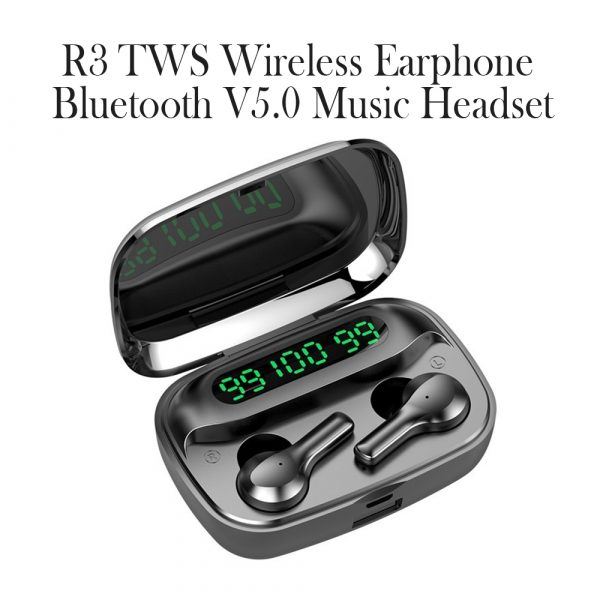 R3 TWS Wireless Earphone Bluetooth V5.0 for Music and Phone Call Headset with Charging Case_4