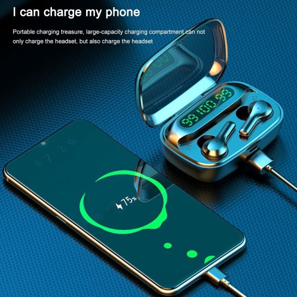 R3 TWS Wireless Earphone Bluetooth V5.0 for Music and Phone Call Headset with Charging Case_6