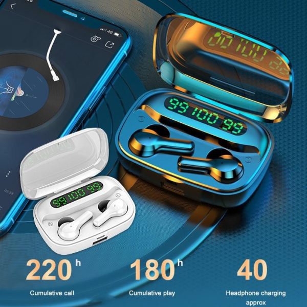 R3 TWS Wireless Earphone Bluetooth V5.0 for Music and Phone Call Headset with Charging Case_7