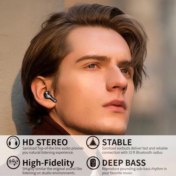 R3 TWS Wireless Earphone Bluetooth V5.0 for Music and Phone Call Headset with Charging Case_8