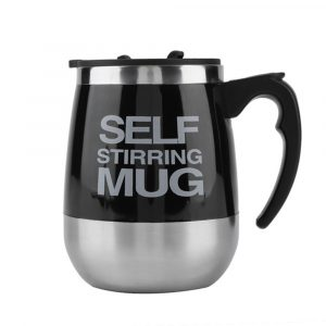 Hot and Cold Battery Operated Magnetic Stainless Steel Self Stirring Mug for Coffee, Tea and Juice