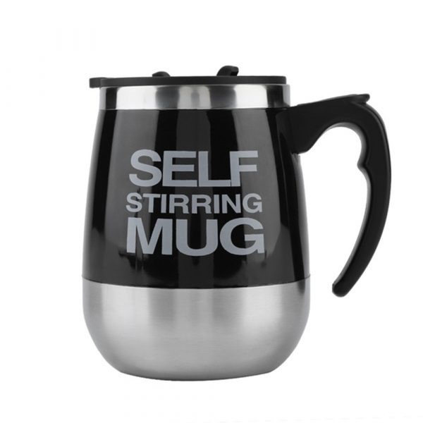 Hot and Cold Battery Operated Magnetic Stainless Steel Self Stirring Mug for Coffee, Tea and Juice_0