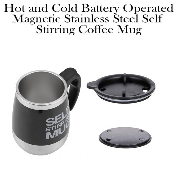 Hot and Cold Battery Operated Magnetic Stainless Steel Self Stirring Mug for Coffee, Tea and Juice_11