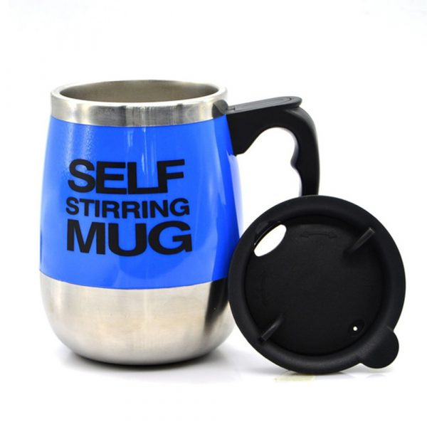 Hot and Cold Battery Operated Magnetic Stainless Steel Self Stirring Mug for Coffee, Tea and Juice_13