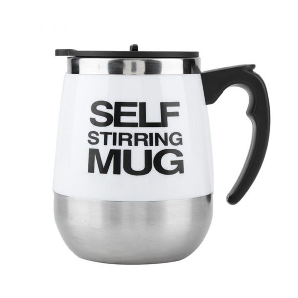 Hot and Cold Battery Operated Magnetic Stainless Steel Self Stirring Mug for Coffee, Tea and Juice_15