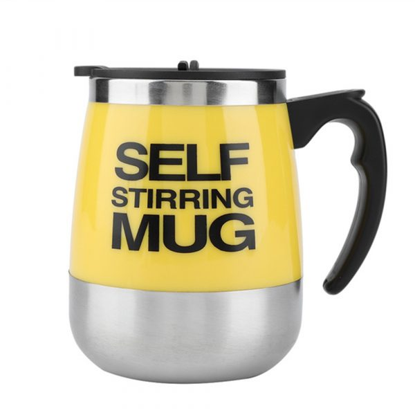 Hot and Cold Battery Operated Magnetic Stainless Steel Self Stirring Mug for Coffee, Tea and Juice_16