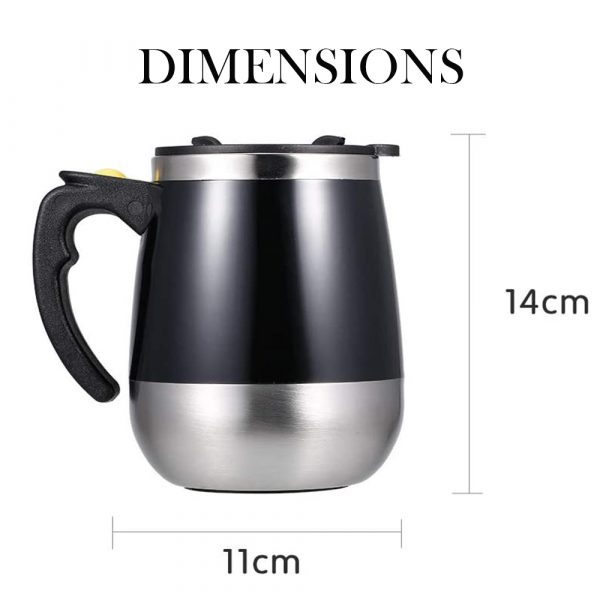 Hot and Cold Battery Operated Magnetic Stainless Steel Self Stirring Mug for Coffee, Tea and Juice_4