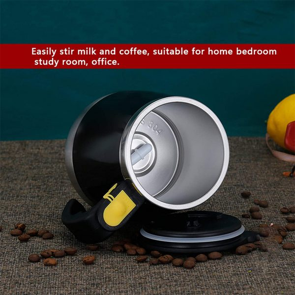 Hot and Cold Battery Operated Magnetic Stainless Steel Self Stirring Mug for Coffee, Tea and Juice_8