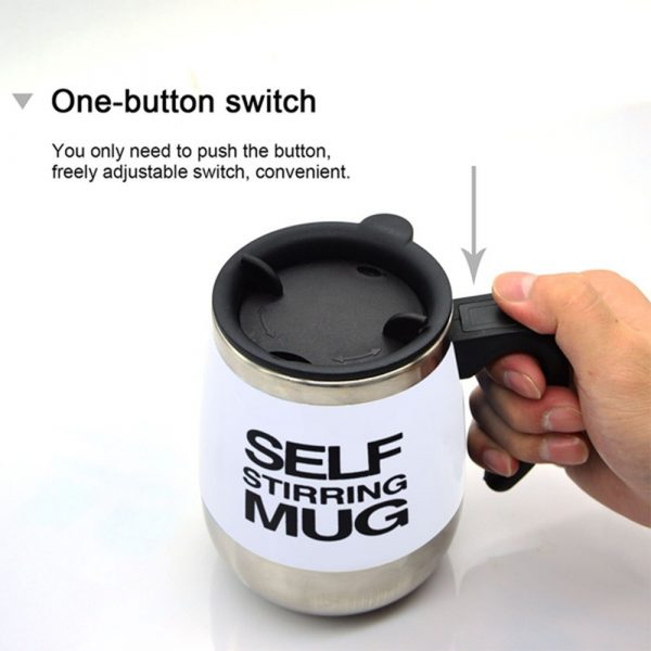 Hot and Cold Battery Operated Magnetic Stainless Steel Self Stirring Mug for Coffee, Tea and Juice_9