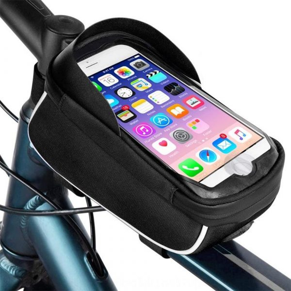 Large Capacity Waterproof Bicycle Phone Mount Bag Phone Case Holder Cycling Top Tube Frame Bag for 6.5 inch Devices_2