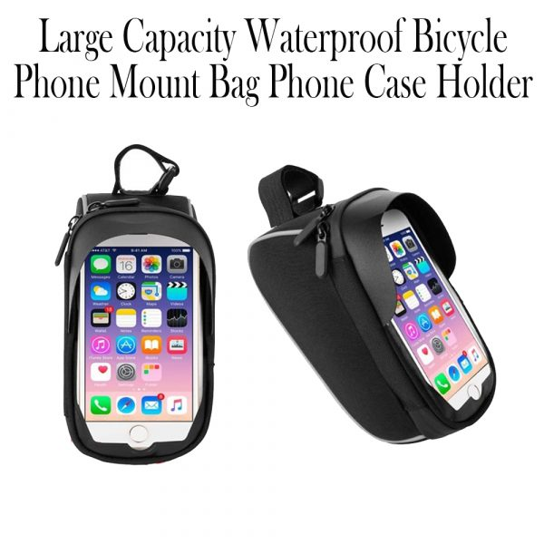 Large Capacity Waterproof Bicycle Phone Mount Bag Phone Case Holder Cycling Top Tube Frame Bag for 6.5 inch Devices_3