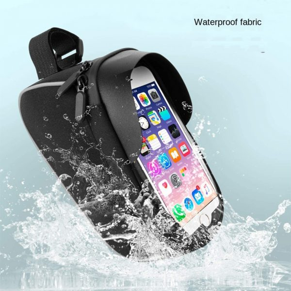 Large Capacity Waterproof Bicycle Phone Mount Bag Phone Case Holder Cycling Top Tube Frame Bag for 6.5 inch Devices_8