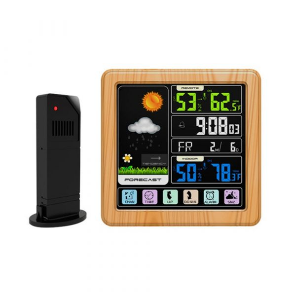 Digital Wireless Multi-Functional Weather Clock Color Screen Creative Home Touch Screen Thermometer Forecast Station Clock_13