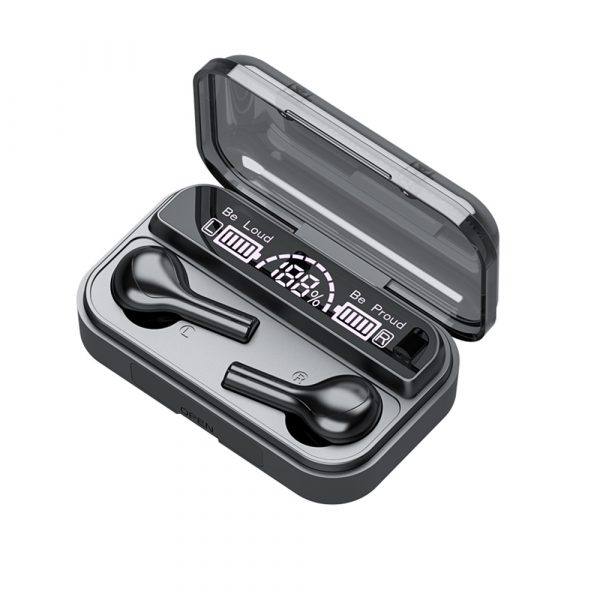 Wireless LCD Display TWS5.0 In-ear Bluetooth Headset for Music and Calls with Charging Case_0
