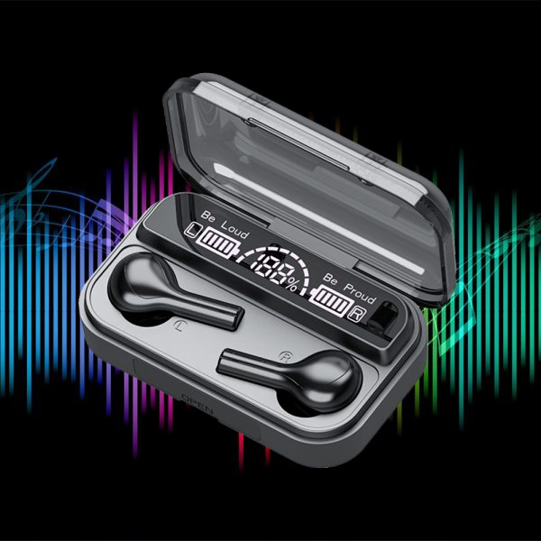 Wireless LCD Display TWS5.0 In-ear Bluetooth Headset for Music and Calls with Charging Case_7