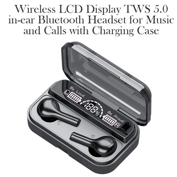 Wireless LCD Display TWS5.0 In-ear Bluetooth Headset for Music and Calls with Charging Case_9