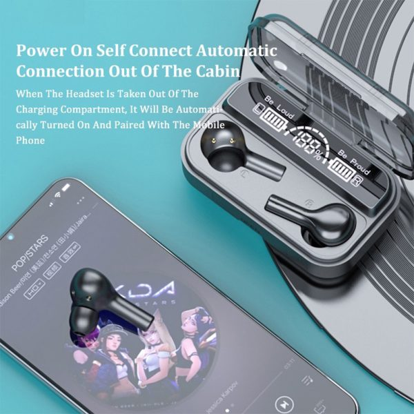 Wireless LCD Display TWS5.0 In-ear Bluetooth Headset for Music and Calls with Charging Case_2