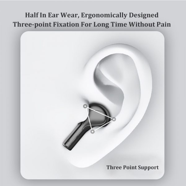 Wireless LCD Display TWS5.0 In-ear Bluetooth Headset for Music and Calls with Charging Case_4