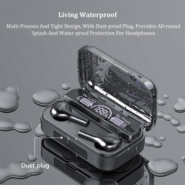 Wireless LCD Display TWS5.0 In-ear Bluetooth Headset for Music and Calls with Charging Case_5