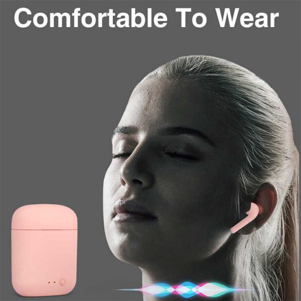 Mini 2 Wireless Bluetooth 5.0 Earphones Sport Earbuds Headset with Mic and Charging Box for All Smartphones_5